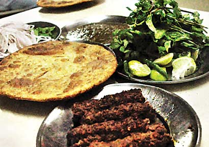 The beef seekh at Sayeed Seekh Kebab Centre