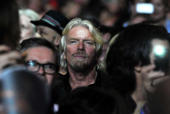Sir Richard Branson watches the Rolling Stones perform live at 02 Arena on November 29, 2012 in London.