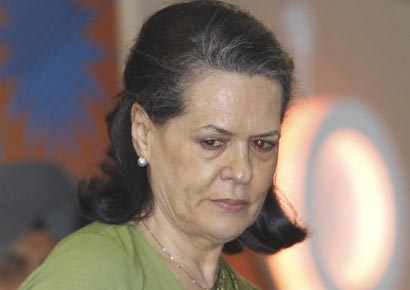 Congress president Sonia Gandhi.