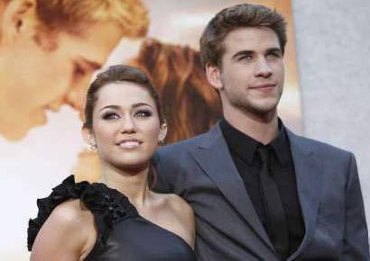 Miley Cyrus with Liam Hemsworth
