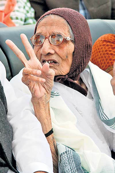 Modi's mother Hiraben