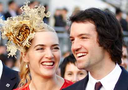 British actress Kate Winslet with her husband Ned Rocknroll