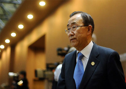UN secretary-general Ban Ki-Moon expressed sorrow at the death of the Delhi paramedic intern who died of injuries sustained during a fight off with her rapists.
