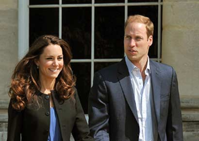 A file photo of Prince William and Kate Middleton