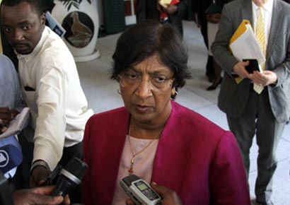 United Nations high commissioner for human rights Navanethem Pillay.
