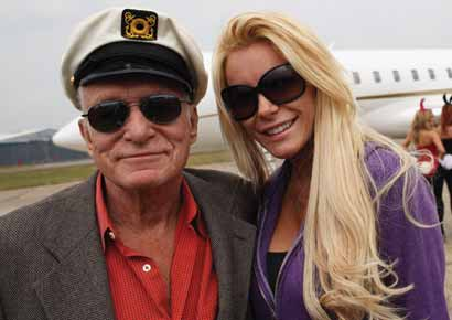 Hugh Hefner with Crystal Harris
