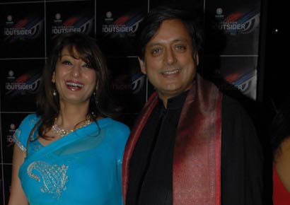 Shashi Tharoor with wife