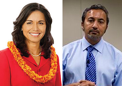 Tulsi Gabbard and Ami Bera (Right)