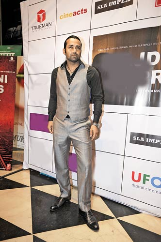 Tennis star Leander Paes at his debut film�s premiere.