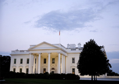 A general view of the White House