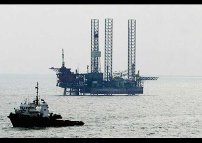 An ONGC-run oil rig in the Arabian Sea.