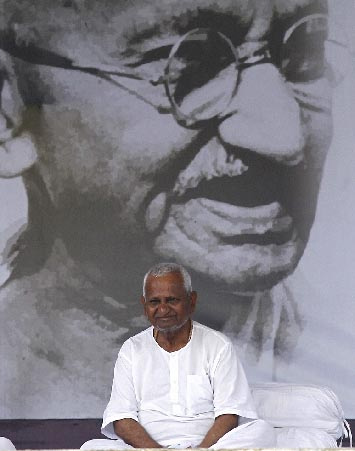 Social crusader Anna Hazare.
