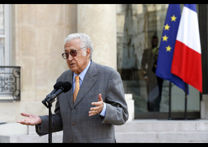 United Nations peace envoy to Syria, Lakhdar Brahimi, a veteran diplomat troubleshooter, took over from Kofi Annan after Annan quit due to the lack of international support for his peace plan.