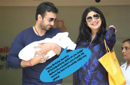 Shilpa Shetty, Raj Kundra and Viaan