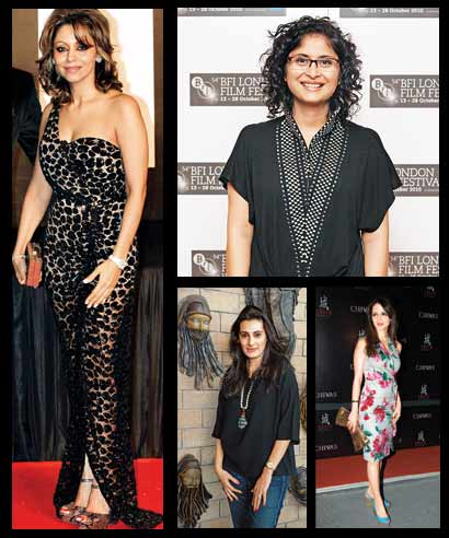 (Clockwise from above) Gauri Khan, Kiran Rao, Sussanne Roshan and Mana Shetty.