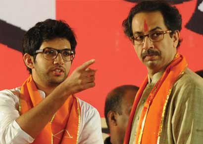 Uddhav Thackeray with son Aditya