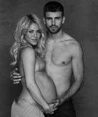 Shakira with Gerard Pique
