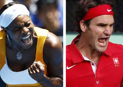 Serena Williams and Roger Federer