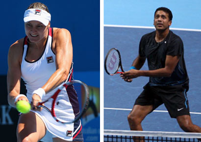 Partners Nadia Petrova and Mahesh Bhupathi beat the Aussie-Dutch pair of Anastasia Rodionova and Jean-Julien Roger to enter the second round of Australian Open on Sunday.