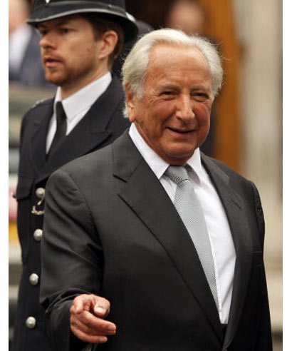 Film director Michael Winner at a ceremony to mark the 25th anniversary of the killing of WPC Yvonne Fletcher in London on April 17, 2009.