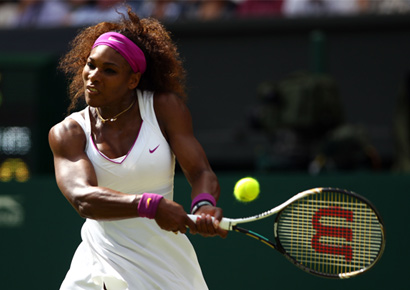 Serena Williams in action.