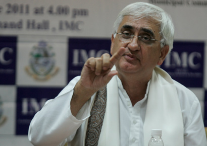 External foreign minister Salman Khurshid has stood by Union home minister Sushilkumar Shinde two days ago.