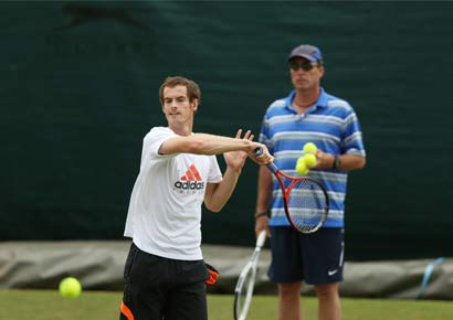 Ivan Lendl with Andy Murray