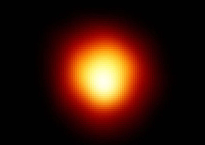Betelgeuse imaged in ultraviolet light by the Hubble Space Telescope and subsequently enhanced by NASA.