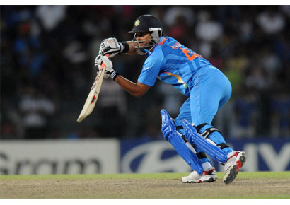 Suresh Raina in inaction during the ICC World Twenty20 2012 Super Eights Group 2 match between South Africa and India at Colombo's R Premadasa Stadium on October 2, 2012.