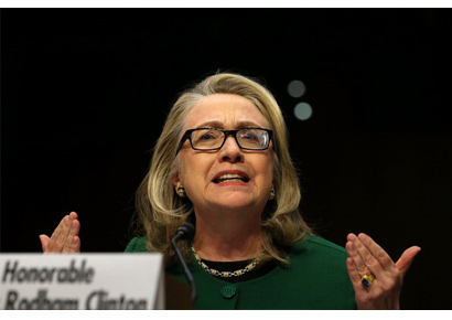 US secretary of state Hillary Clinton testifies before the Senate Foreign Relations Committee about the Benghazi attack in Libya on Wednesday.