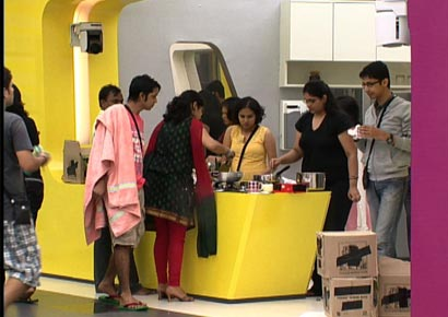 A view of the inside of the <i>Bigg Boss </i>house
