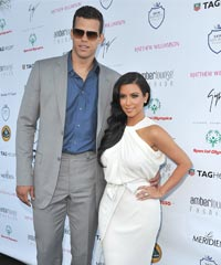 Kim Kardashian with Kris Humphries