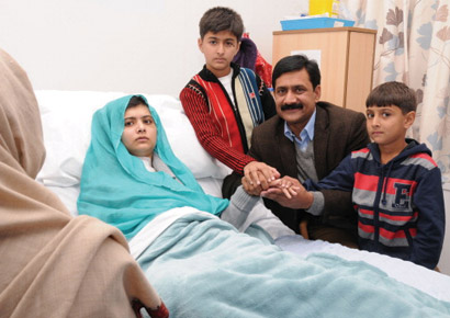 Malala Yousufzai being treated in a London hospital. <i>�File</i>
