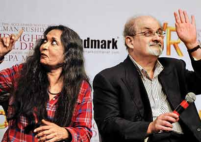 Deepa Mehta with Salman Rushdie