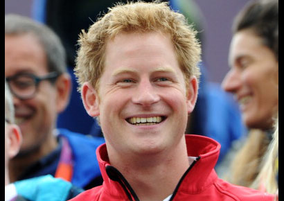 Prince Harry at the London 2012 Olympic Games at Greenwich Park on July 31, 2012.