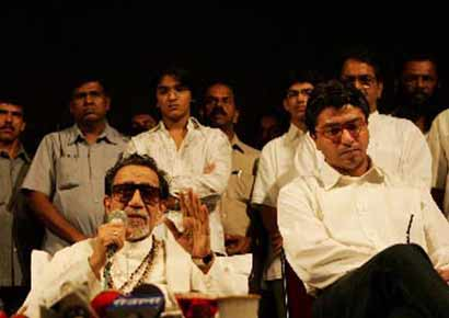 Raj with Bal Thackeray 