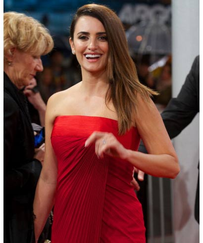 Spanish actress Penelope Cruz at the 60th San Sebastian International Film Festival in Spain on September 25, 2012.