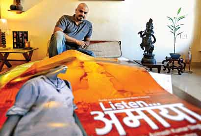 Director of Listen Amaya Avinash Singh at his residence in Mumbai