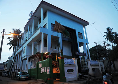 The controversial building of the Taha Education Trust is located on encroached Wakf property.