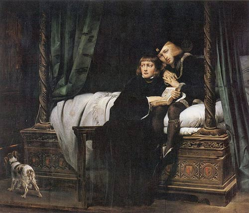 King Edward V and the Duke of York in the Tower of London by Paul Delaroche