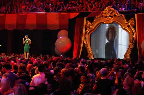 Alice on MTV's EMA's 2012 giving tribute to Whitney.