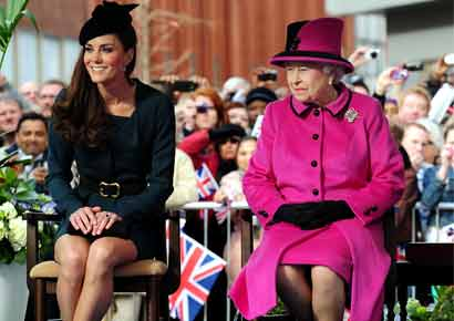 Queen Elizabeth with Kate Middleton