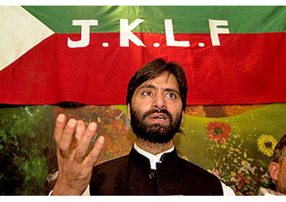 A file photo of JKLF chief Yasin Malik.