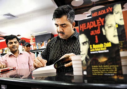 Hussain S Zaidi during the promotion of his book in the city.