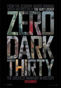 The poster <i>Zero Dark Thirty</i> 