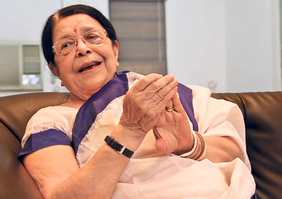 Sumitra Gandhi, granddaughter of Mahatma Gandhi.