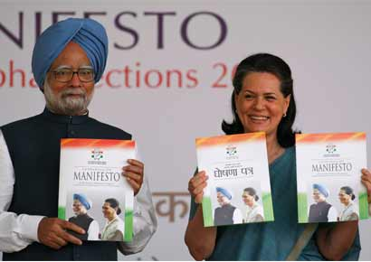 Manmohan Singh with Sonia Gandhi