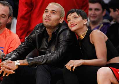 Rihanna with Chris Brown.
