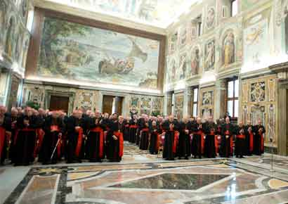 The cardinals meet to decide conclave date