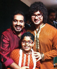 Shankar Mahadevan's two sons Siddharth (18) and Shivam (11).